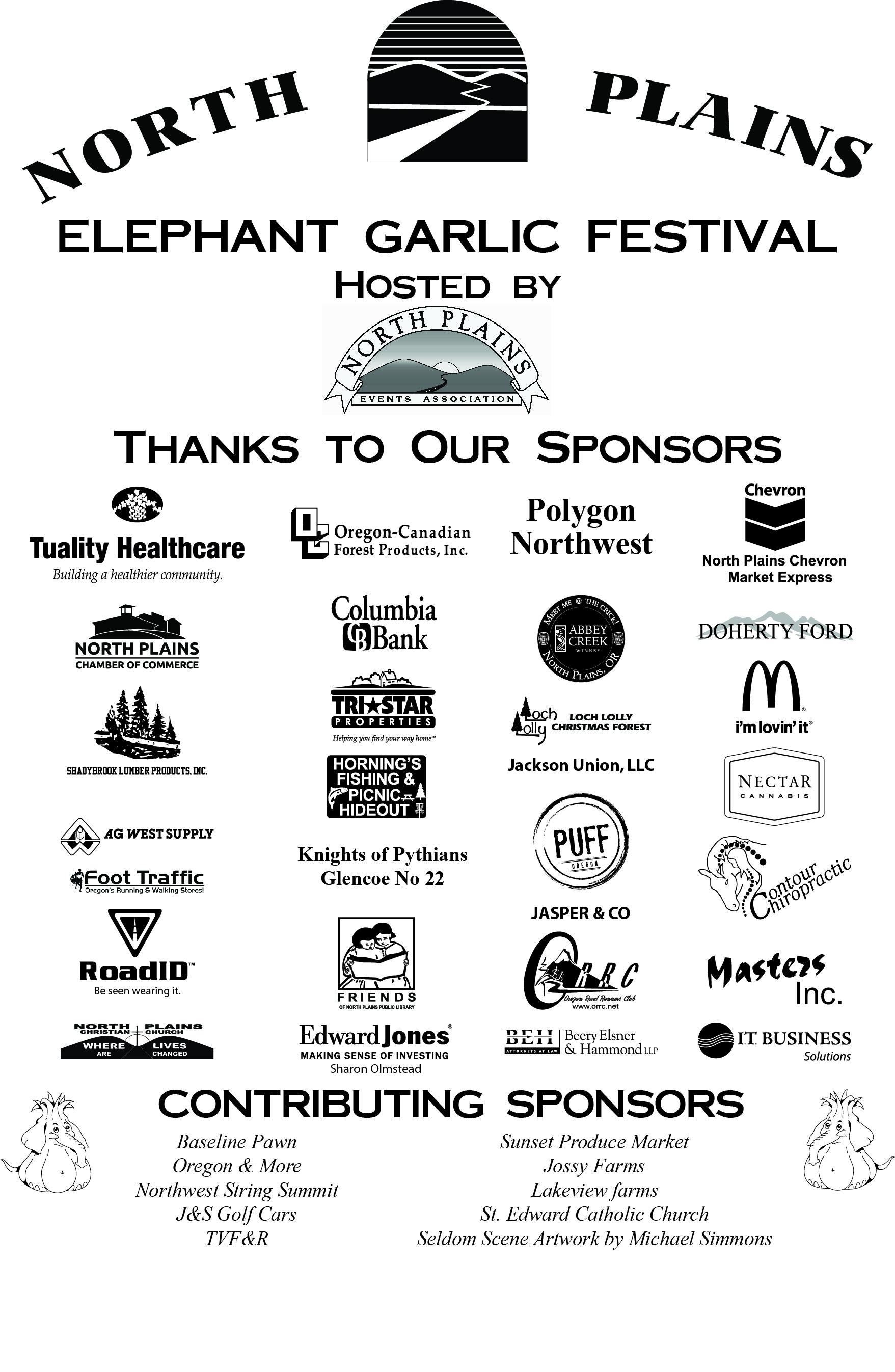 2015 Garlic Festival Sponsors