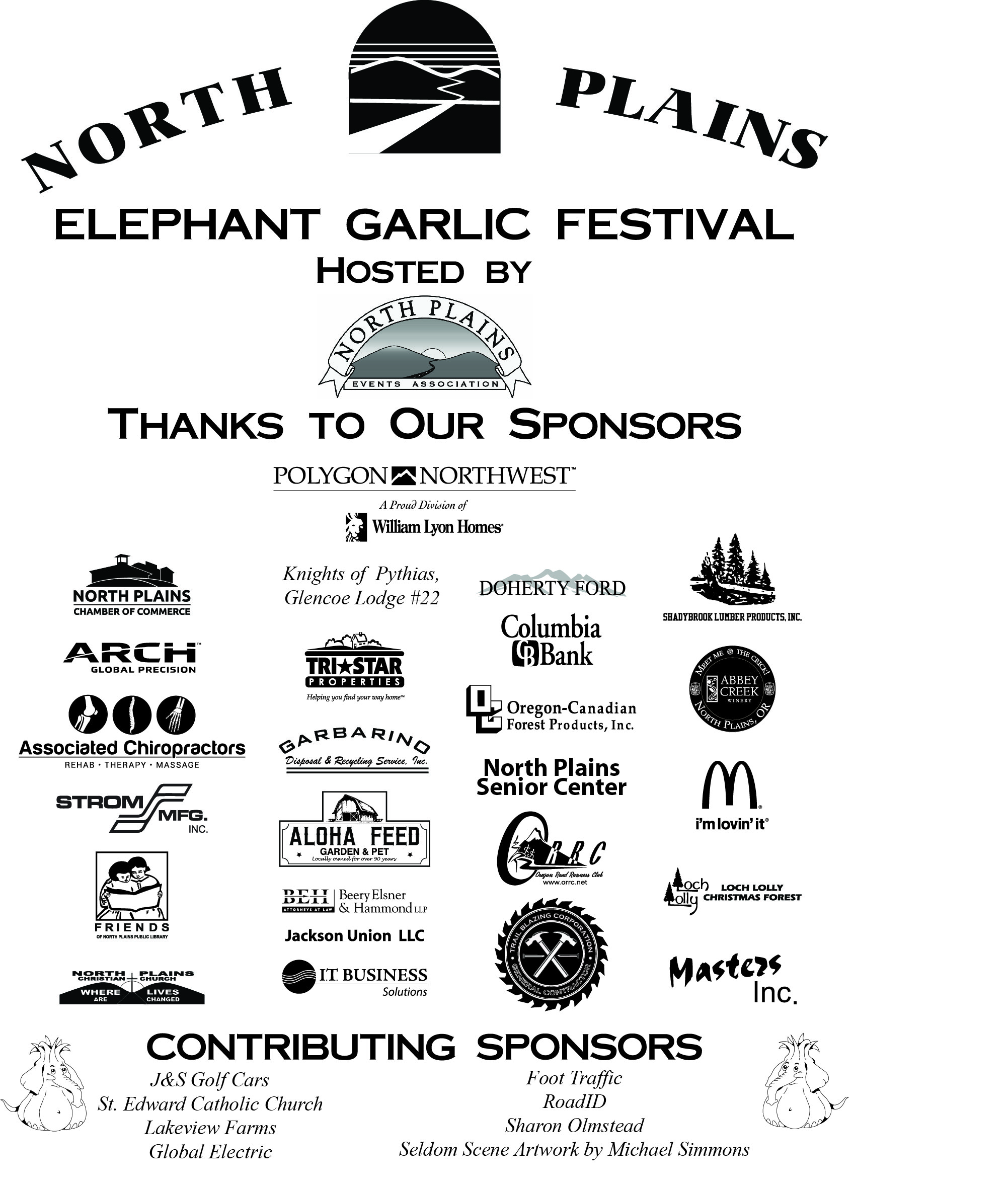2018 Garlic Festival Sponsors